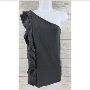 The Limited Top Sz Medium Gray One Shoulder